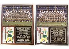 Green Bay Packers Super Bowl XLV Champions Photo Card Plaque Aaron Rodgers MVP