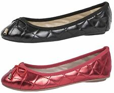 GIRLS FAUX LEATHER BOW BALLET PUMPS FLAT CHILDRENS KIDS SHOES PARTY SIZE 10- 2.5