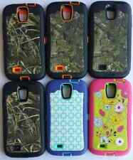 NEW Best Quality Camo Case W/ Built in Screen Protector For Samsung Galaxy S4
