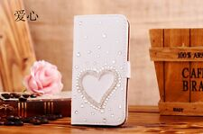 Luxury Bling Crystal Rhinestone Diamond Flip Wallet Leather Case Cover for Phone