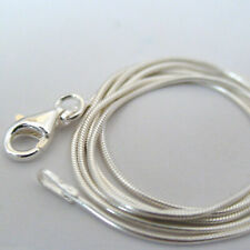 "Sterling Silver SNAKE Chain Necklace 1mm 925 Italian 16"", 18"", 20"", 24"", 30"" NEW"