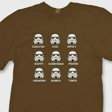 STORMTROOPER EMOTIONS Star Wars Funny T-shirt Darth Vader Tee Shirt