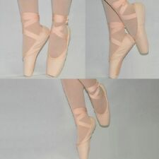 Sansha Women's and Girls Pink Canvas Ballet Pointe Shoes Toe Shoes New 15 Sizes