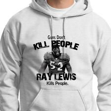 Guns Don't Kill People Ray Lewis Does Ravens Tee Jersey NFL Hoodie Sweatshirt