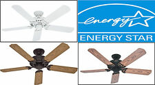 "NEW Hunter 52"" Outdoor Ceiling Fan Porch/Patio/Sunroom 5-Blade (Plastic) Energy☆"