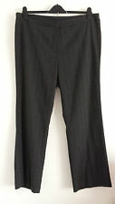 NEW Size 18-26 Straight Leg Grey Smart Formal Work Office Tailored Trousers