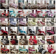 New Duvet Cover With Pillow Cases Quilt Cover Bedding Set UK Single Double King