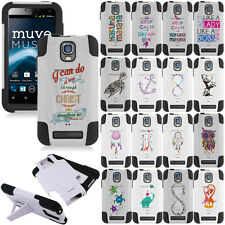 For ZTE Engage Nova V8000 Phone Cover Kickstand Dual Layered Hybrid Case