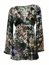 Aparte Silk Blouse blouse multicolour Patrizia Dini Size 34 36 US 8 10 12 14 NEW