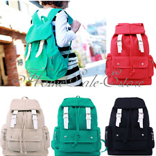 Women Girl Casual Canvas Shoulder Backpack School Bag Satchel Bookbag Fashion