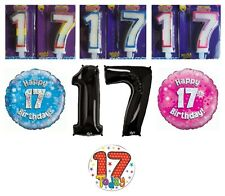 17th Birthday AGE 17 - Range of Party BALLOONS, BANNERS, CANDLES & BADGES