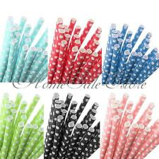 25 Pcs Polka Dot Paper Straws Drinking Straws Party Wedding Birthday Colorful