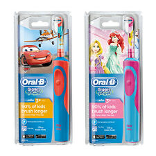 Oral B Disney Princess Cars Boys Girls Rechargeable Electric Toothbrush + Timer