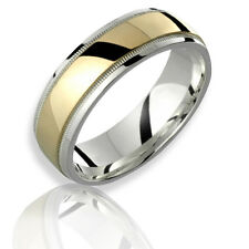 10k Yellow Gold Mens .925 Sterling Silver Rings W Beaded Edges 7mm 4 Him N Her