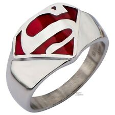 Superman Man Of Steel Symbol Signet Ring With Box DC Comics Licensed Size 9-13