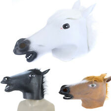 Funny Creepy Latex Horse Head Mask Halloween Costume Party Christmas Theate Prop