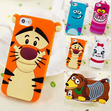 Cartoon Animal For Samsung S3 S4 Note3 iPhone 4/4S/5 Soft Silicone Case Cover