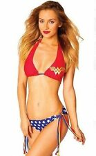 Summer '14 Wonder Woman Halter Tri String Dc Comics Bikini Bathing Suit Swimwear