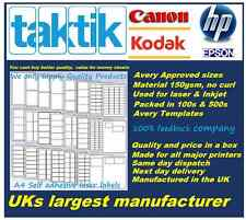 Taktik A4 self adhesive labels,No1 selling laser sheet in UK best quality sheets