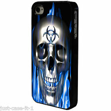BLUE FLAME SKULL Phone Case/Cover UK STOCK. iPhone 4 4s 5 5s 5c