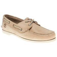 New Mens Timberland Tan Brig 2 Eye Boat Leather Shoes Lace Up