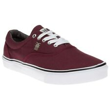 New Mens Fenchurch Maroon Varial Canvas Trainers Lace Up