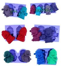 Chocolate Mold Laughing Buddha God Silicone Mould for Fondant Polymer Clay Soap