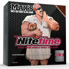MAX'S NITETIME PROTEIN 2.2KG SLOW RELEASE CASEIN NITE TIME HIGH PROTEIN + SHAKER