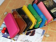 New Lady Women Soft Leather Clutch Wallet Long PU Card Coin Purse Handbag