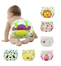 T090 Hot Sale Cute Baby Training Pants Toddler Potty Waterproof Cloth Diapers UK