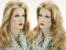 Youthful Medium Long Skin Top Wavy Lightly Layered Natural Looking Wigs