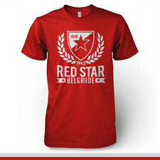 Red Star Belgrade Serbia Football Soccer T Shirt UEFA