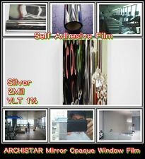 "Wide:30""/MIRROR 4MIL Film/Tint/Window/Home/Glass/Safety/Interior/VLT 1%/Roll/"