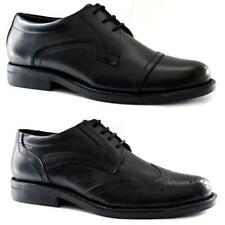 MENS LEATHER SHOES SMART WEDDING OXFORD BROGUE FORMAL OFFICE DRESS SHOES SIZE