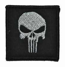 "Punisher Skull - 2""x2"" Military Morale Funny Velcro Patch - Multiple Colors"