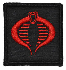 "Cobra - 2""x2"" Military Morale Funny Velcro Patch - Multiple Colors"