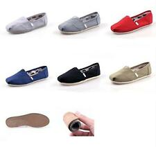 D05 New Women/ Men's Natural Linen Burlap Canvas Loaf Unisex Shoes Casual shoes
