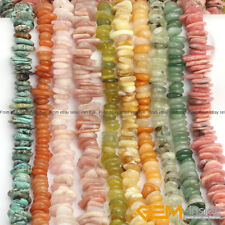 """3-5x9-13mm Natural Freeform Rondelle Disc Spacer Beads For Jewelry Making 15"""""""