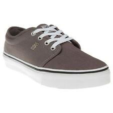 New Mens Fenchurch Grey Grind Canvas Trainers Lace Up