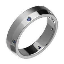 New Titanium Ring Sapphire Ring Engagement Wedding Band Direct From Manufacturer