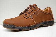 Clarks Mens Active Air Casual Shoes Rico Park Mahogany Leather
