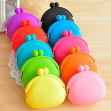 1x Candy Color Silicone Coin Purses  Rubber Wallets Bag U pick color
