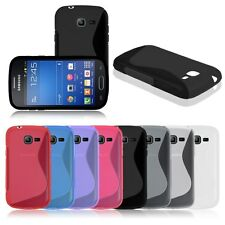 S-Line Soft TPU Gel Back Case Cover Skin for Samsung Galaxy Fresh GT S7390 S7392