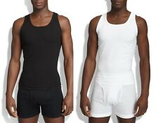 Spanx Men's Shapewear,Cotton Compression Tank  Top 611 Shirt Tee Black White