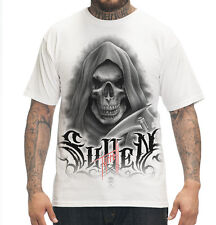 SULLEN CLOTHING  BOB TYRRELL REAPER WHITE TATTOO SCENE INK SKULL T SHIRT