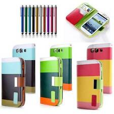 Hybrid Wallet PU Leather Stand Box Case Flip Cover FOR SAMSUNG Galaxy S3 i9300