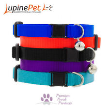 Lupine Cat Collar 12mm wide with bell and safety release buckle -Various colours