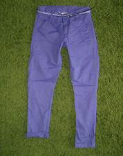 H & M Girl's Comfortable Chinos Trousers With Belt Purple CA Size L XL New