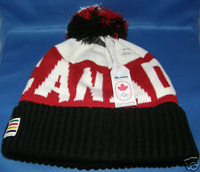 Olympic 2014 Canada Sochi Pompom Toque Hat - Adult One Size - FREE SHIPPING USA