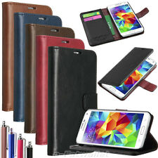 Luxury Leather Flip Wallet Stand Case Cover For Samsung Galaxy S5 i9600